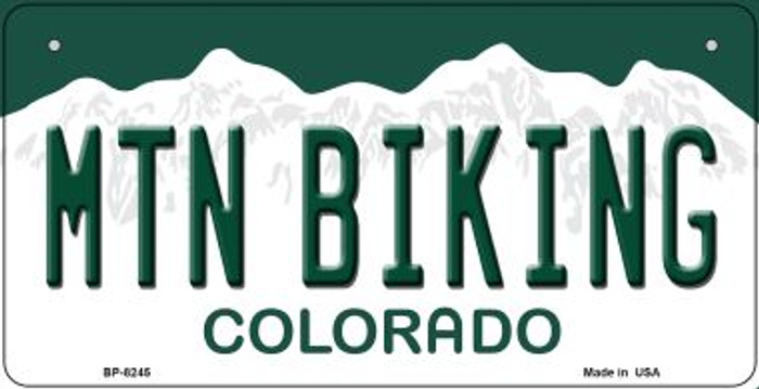 Mountain Biking Colorado Novelty Metal Bicycle Plate BP-8245