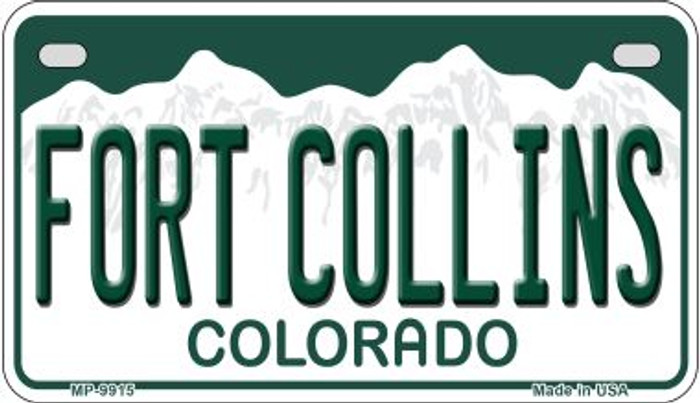 Fort Collins Colorado Novelty Metal Motorcyle Plate MP-9915