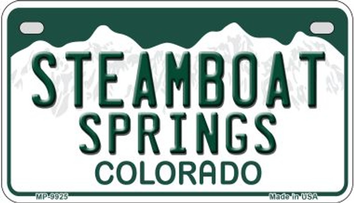 Steamboat Springs Colorado Novelty Metal Motorcyle Plate MP-9925