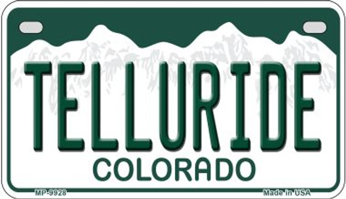 Telluride Colorado Novelty Metal Motorcyle Plate MP-9928