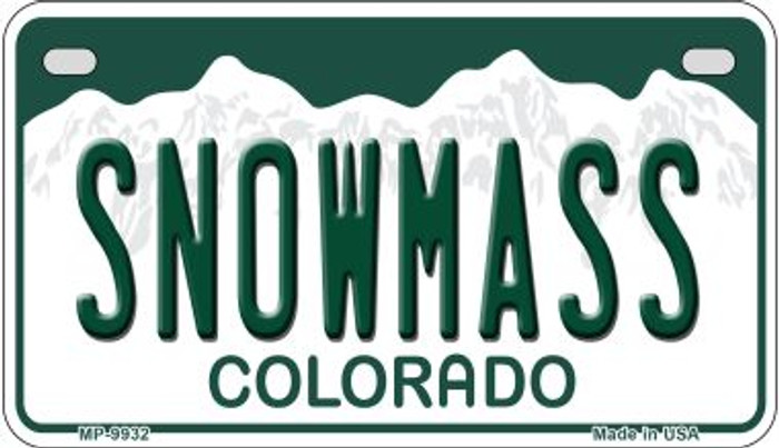 Snowmass Colorado Novelty Metal Motorcyle Plate MP-9932