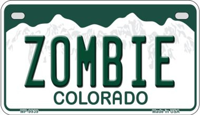 Zombie Colorado Novelty Metal Motorcyle Plate MP-9939