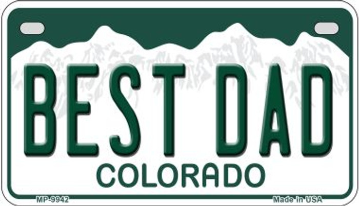 Best Dad Colorado Novelty Metal Motorcyle Plate MP-9942