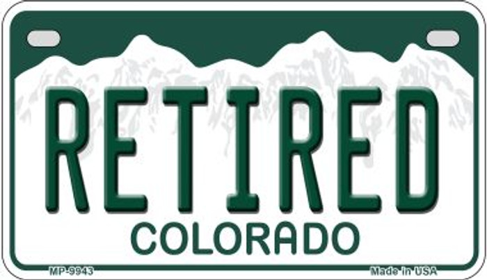 Retired Colorado Novelty Metal Motorcyle Plate MP-9943