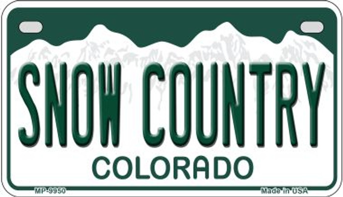 Snow Country Colorado Novelty Metal Motorcyle Plate MP-9950
