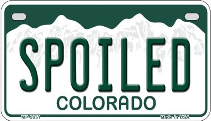 Spoiled Colorado Novelty Metal Motorcyle Plate MP-9951