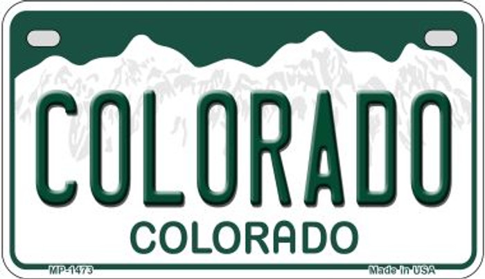 Colorado Novelty Metal Motorcyle Plate MP-1473