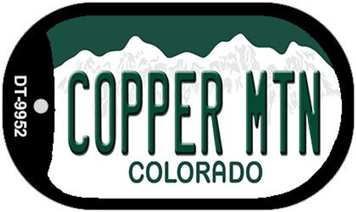 Copper Mountain Colorado Novelty Metal Dog Tag Necklace DT-9952