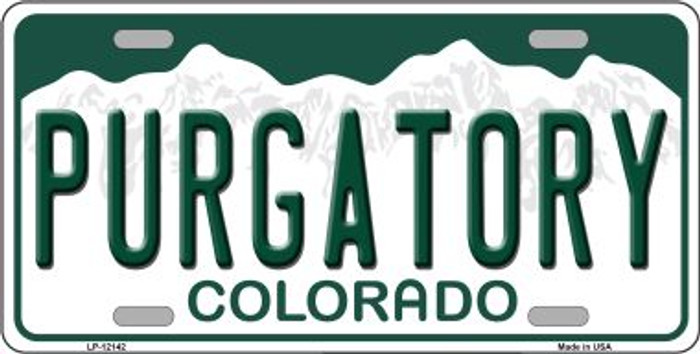 Purgatory Colorado Novelty Metal License Plate LP-12142