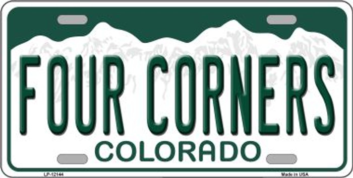 Four Corners Colorado Novelty Metal License Plate LP-12144