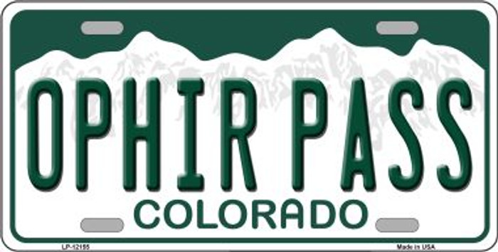 Ophir Pass Colorado Novelty Metal License Plate LP-12155