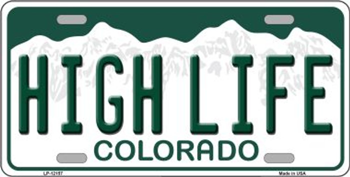 High Life Colorado Novelty Metal License Plate LP-12157