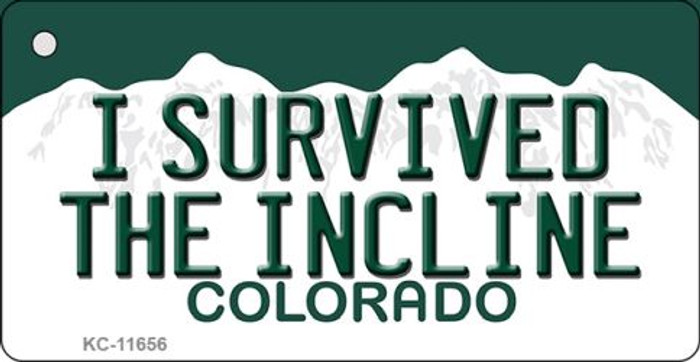 I Survived The Incline Colorado Novelty Metal Key Chain KC-11656