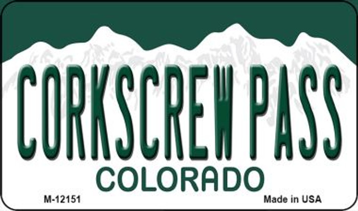 Corkscrew Pass Colorado Novelty Metal Magnet M-12151