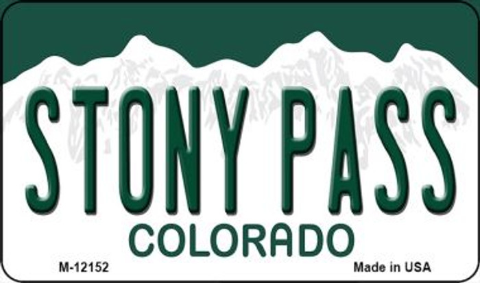 Stony Pass Colorado Novelty Metal Magnet M-12152