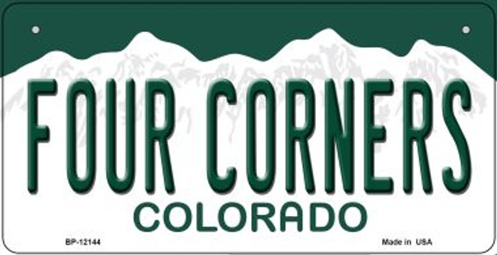 Four Corners Colorado Novelty Metal Bicycle Plate BP-12144