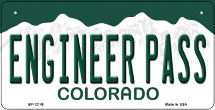 Engineer Pass Colorado Novelty Metal Bicycle Plate BP-12149