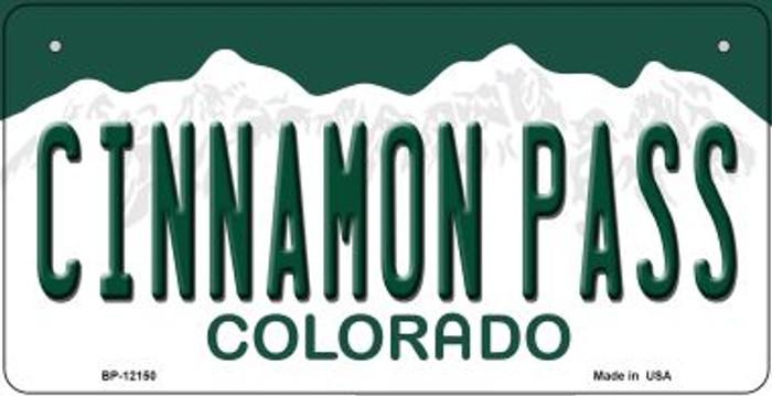 Cinnamon Pass Colorado Novelty Metal Bicycle Plate BP-12150