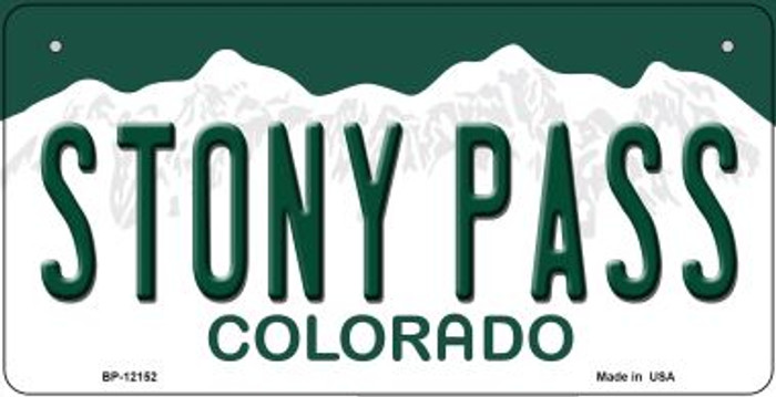 Stony Pass Colorado Novelty Metal Bicycle Plate BP-12152