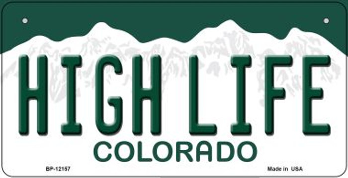High Life Colorado Novelty Metal Bicycle Plate BP-12157