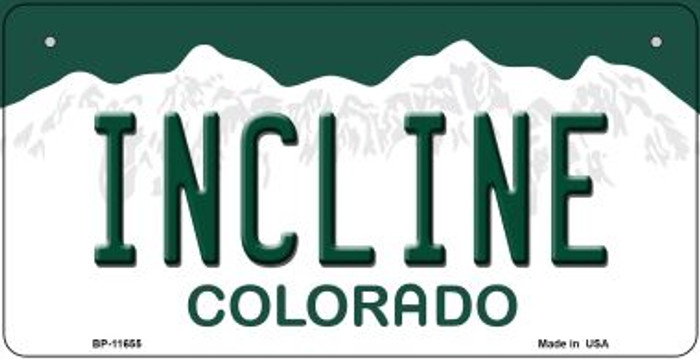 Incline Colorado Novelty Metal Bicycle Plate BP-11655