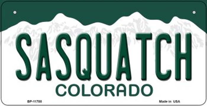 Sasquatch Colorado Novelty Metal Bicycle Plate BP-11700
