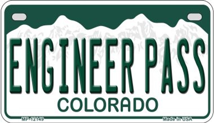 Engineer Pass Colorado Novelty Metal Motorcycle Plate MP-12149