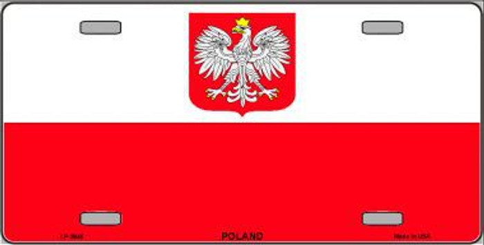 Poland Eagle Flag Metal Novelty License Plate LP-3946