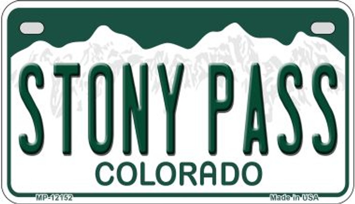 Stony Pass Colorado Novelty Metal Motorcycle Plate MP-12152