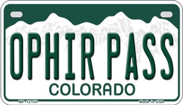 Ophir Pass Colorado Novelty Metal Motorcycle Plate MP-12155