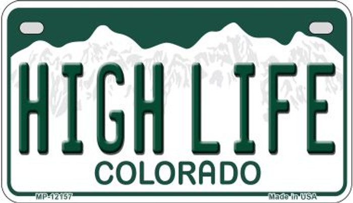 High Life Colorado Novelty Metal Motorcycle Plate MP-12157