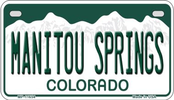 Manitou Springs Colorado Novelty Metal Motorcycle Plate MP-11654