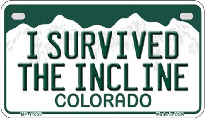 I Survived The Incline Colorado Novelty Metal Motorcycle Plate MP-11656