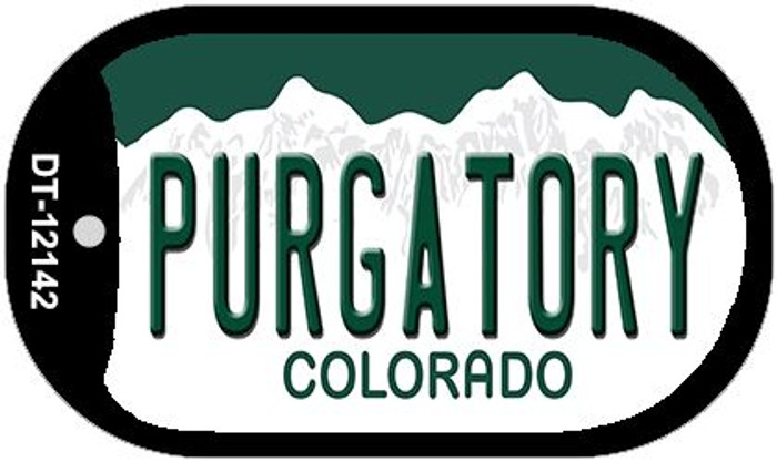 Purgatory Colorado Novelty Metal Dog Tag Necklace DT-12142