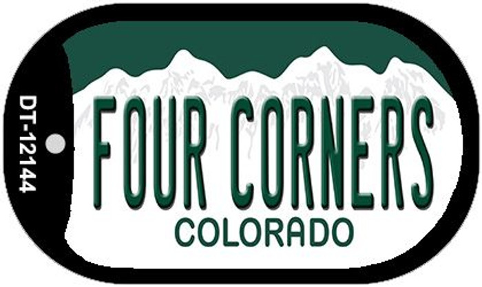 Four Corners Colorado Novelty Metal Dog Tag Necklace DT-12144