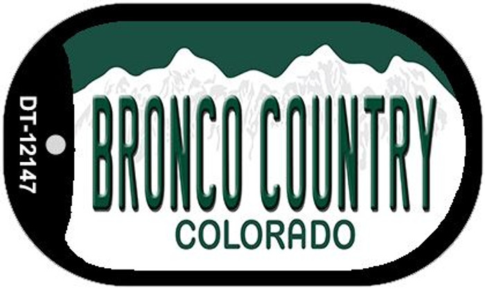 Bronco Country Colorado Novelty Metal Dog Tag Necklace DT-12147