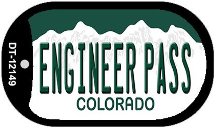 Engineer Pass Colorado Novelty Metal Dog Tag Necklace DT-12149