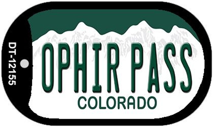 Ophir Pass Colorado Novelty Metal Dog Tag Necklace DT-12155