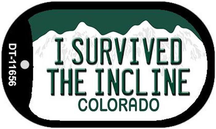 I Survived The Incline Colorado Novelty Metal Dog Tag Necklace DT-11656
