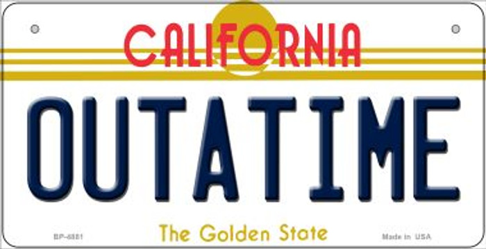Outatime California Novelty Metal Bicycle Plate BP-4881