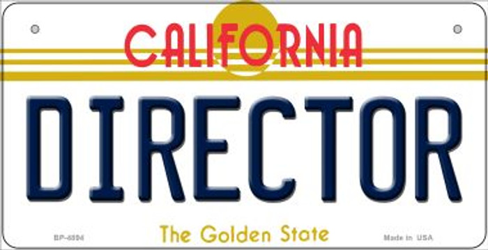 Director California Novelty Metal Bicycle Plate BP-4894