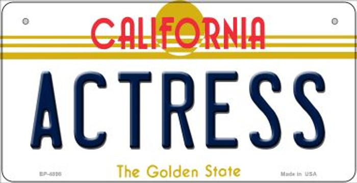 Actress California Novelty Metal Bicycle Plate BP-4898