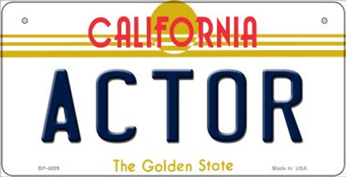 Actor California Novelty Metal Bicycle Plate BP-4899