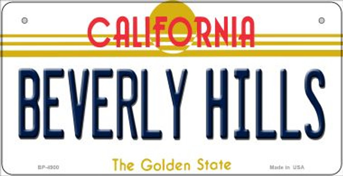 Beverly Hills California Novelty Metal Bicycle Plate BP-4900