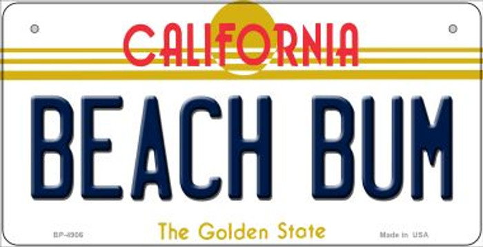 Beach Bum California Novelty Metal Bicycle Plate BP-4906