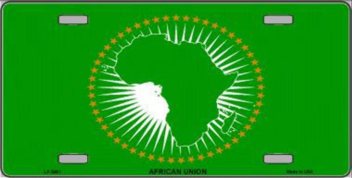 African Union Flag Metal Novelty License Plate LP-3951