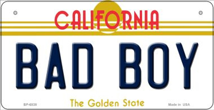 Bad Boy California Novelty Metal Bicycle Plate BP-6838