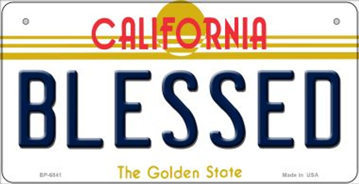 Blessed California Novelty Metal Bicycle Plate BP-6841