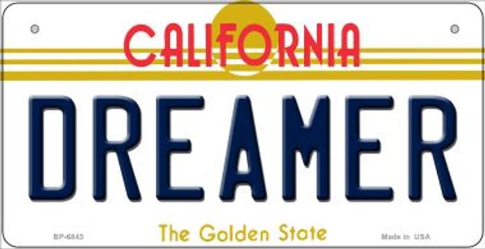 Dreamer California Novelty Metal Bicycle Plate BP-6843