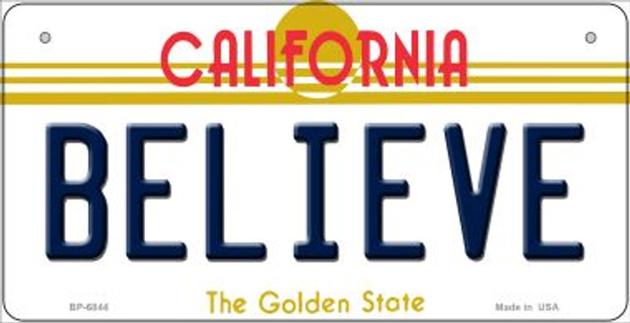 Believe California Novelty Metal Bicycle Plate BP-6844